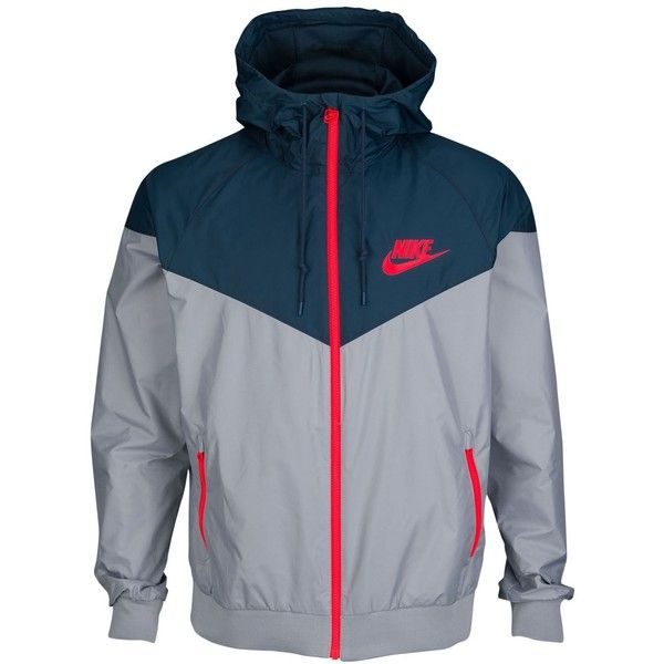 Nike Windrunner Jacket Men's ($85) ❤ liked on Polyvore featuring mens, men's clothing, men's activewear y men's activewear jackets