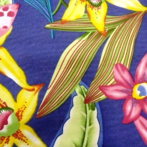 Floral Tropical Jasmin Cotton Fabric