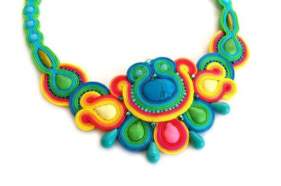 Luxury gift  Statement necklace  Bib necklace  by SaboDesign