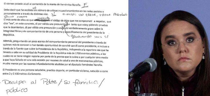 La carta que Los Pinos quería que leyera Carmen Aristegui - Aristegui Noticias