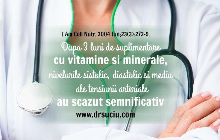 Vitamine, minerale si presiunea arteriala - drsuciu