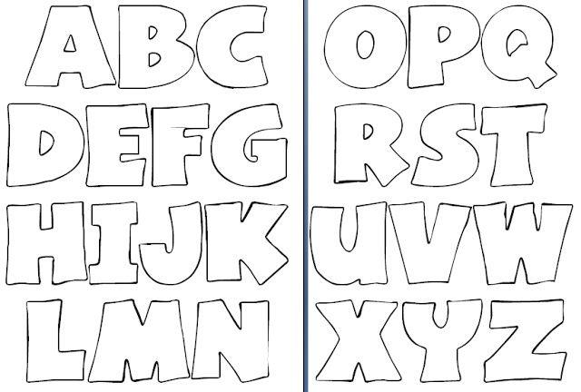 Molde de Letras - Fonte Basica                                                                                                                                                     Mais