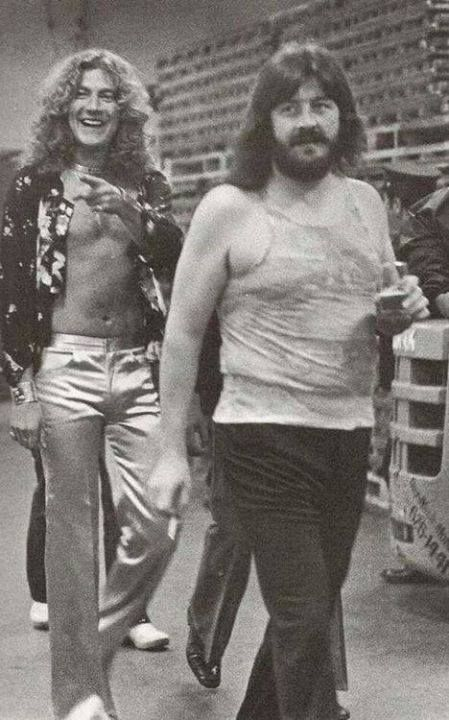Robert Plant & John Bonham. Love the pants on Robert Plant!