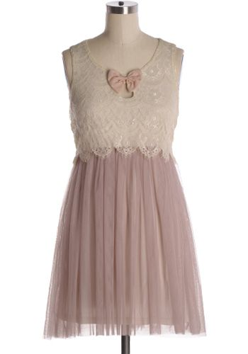 You will float away in this dreamy, romantic dress with cream lace top, dusty rose tulle skirt, and matching bow accent. 100% polyester Slightly stretchy Lined Indie, Retro, Party, Vintage, Plus Size, Convertible, Cocktail Dresses in Canada Dreamland Dress -