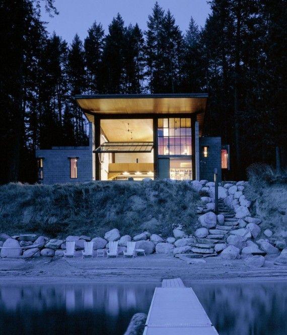 Loft avec porte basculante Chicken Point Cabin
