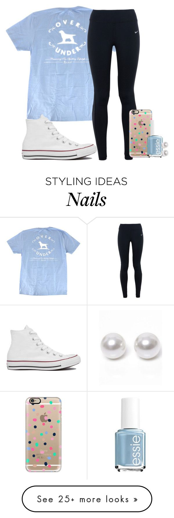 """go follow @lizannnee on instagram please"" by elizabethannee on Polyvore featuring NIKE, Converse, Casetify, Essie and Nouv-Elle"