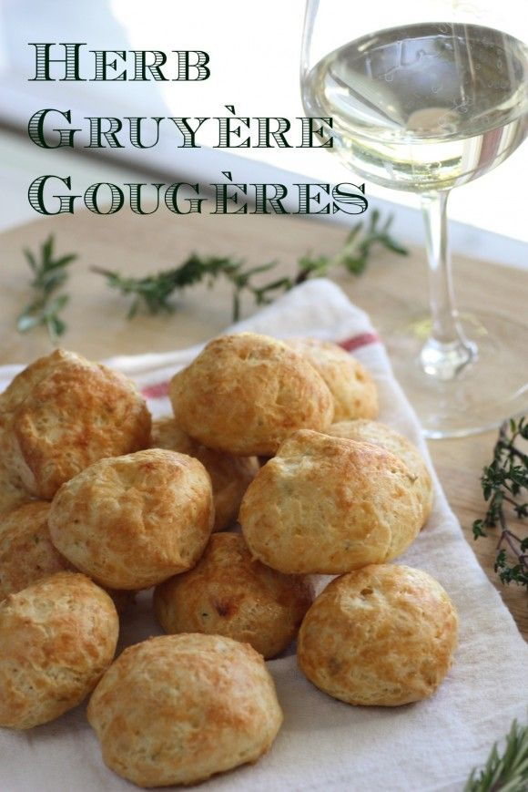 Herb Emmental Gruyere Gougeres Recipe. These pair ...