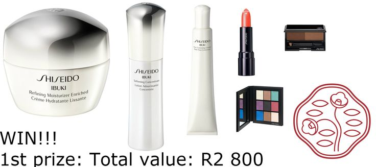 To mark the launch of the new IBUKI line, together with Shiseido, I will be giving away 3 Shiseido Hampers!! Enter here: http://beautybelle.co.za/ibuki-campaign/  1st prize: Total value: R2 800 Ibuki Refining Moisturizer Enriched 50ml Ibuki Softening Concentrate  75ml Ibuki Eye Correcting Cream  15ml Eye Color Bar – 9 shade limited edition compact  Eyebrow Styling Compact in BR603 Perfect Rouge in RS452