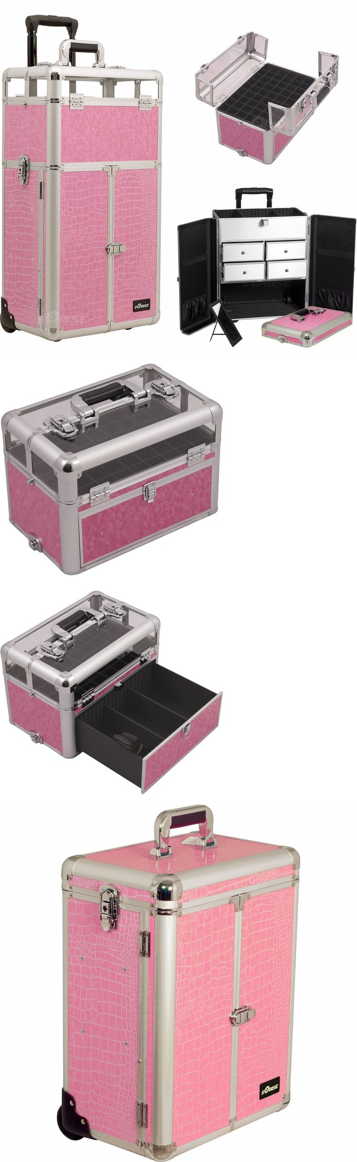 Gel Nails: Pink Opi Nail Polish Manicure Pedicure Makeup Trolley Case Organizers Storage BUY IT NOW ONLY: $219.99