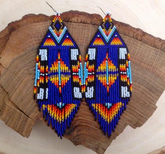 Cobalt Blue Fire Earrings by wildmintjewelry on Etsy