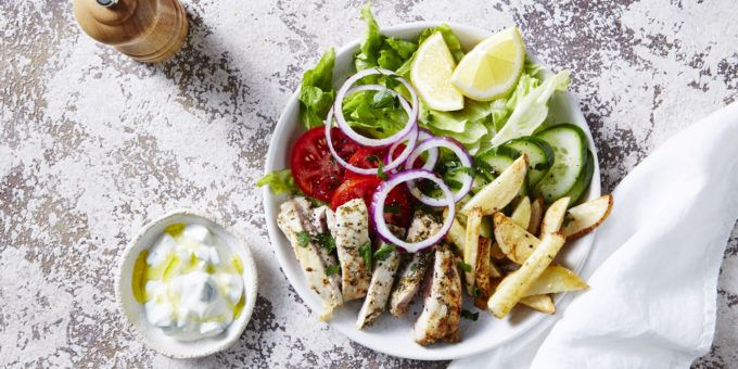 I Quit Sugar - Greek Souvlaki Bowl