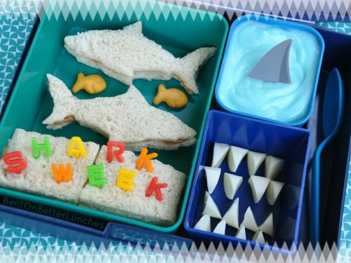 Shark Week Laptop Lunches bento by BentOnBetterLunches