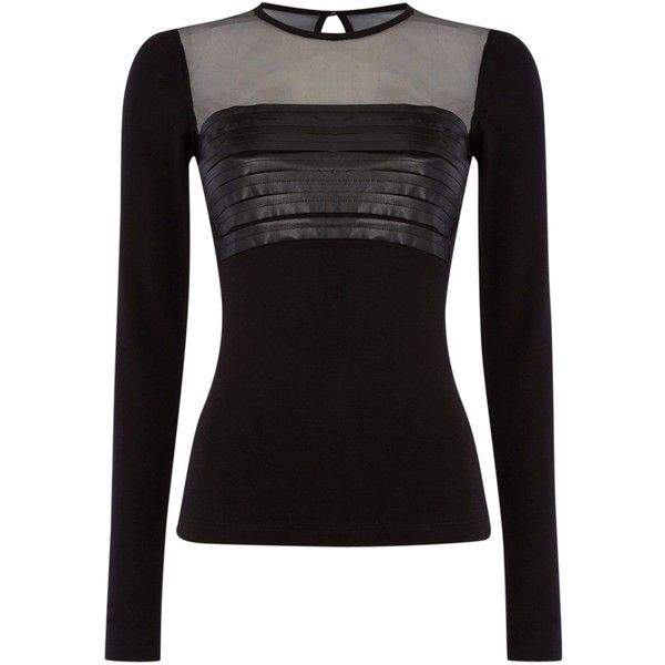 Diesel t-hettie top ($145) ❤ liked on Polyvore featuring tops, t-shirts, black, women, diesel tees, diesel t shirts, black top, black t-shirt and black tee