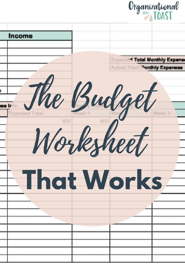 The Easiest Way To Make A Monthly Budget Budgeting Worksheets Budgeting Monthly Budget