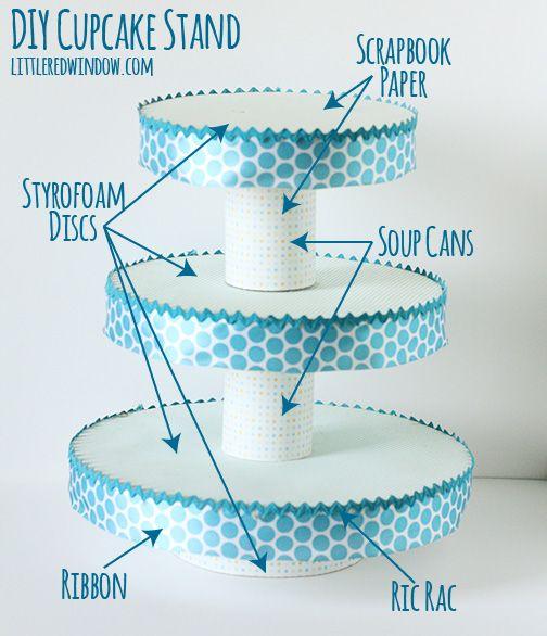 DIY Pirá mide para Cupcakes. Con materiales simples. Muy útil, sólo debes darle ru propio look.