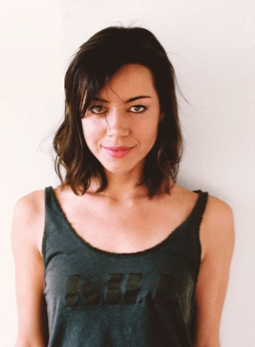 I really dig Aubrey Plaza's short hairdo…hoping to do something like this soon.