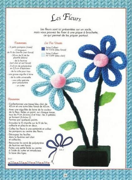 Fiore con tricotin e nettapipe
