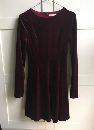 Kup mój przedmiot na #vintedpl http://www.vinted.pl/damska-odziez/krotkie-sukienki/17289206-aksamitna-rozkloszowana-sukienka-burgundowa-welurowa-skater-dress-90s
