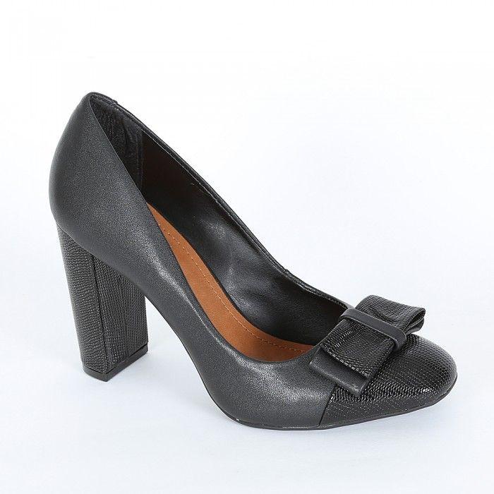 Stiletto Moño  - Negro Combinado