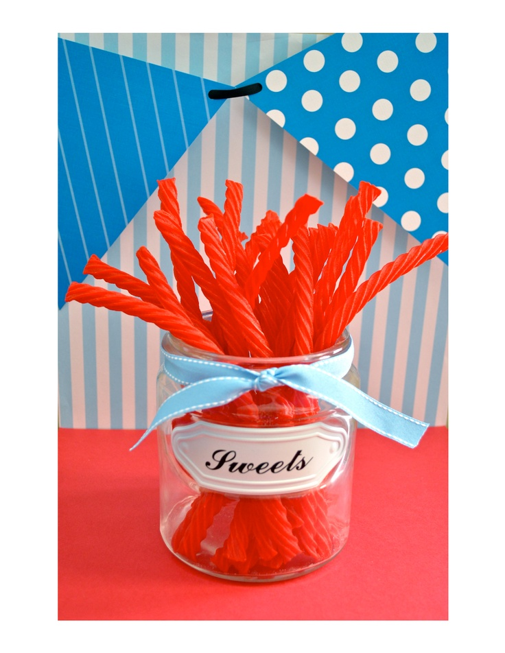 red licorice for red wagon theme