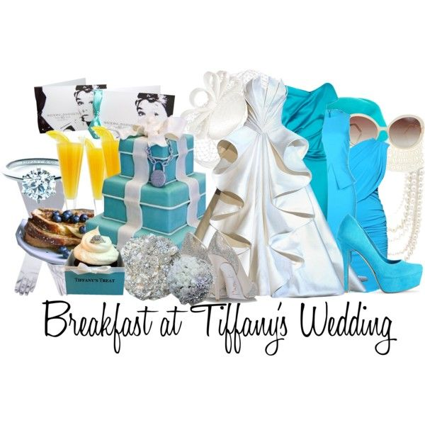 Breakfast at Tiffany's Wedding, created by jami1990 on Polyvore