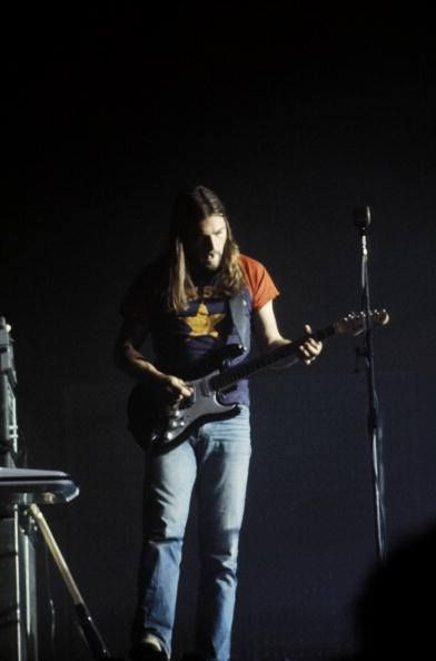 David Gilmour performing on Pink Floyd's Dark Side tour, Wembley, London, England, United Kingdom, 1973