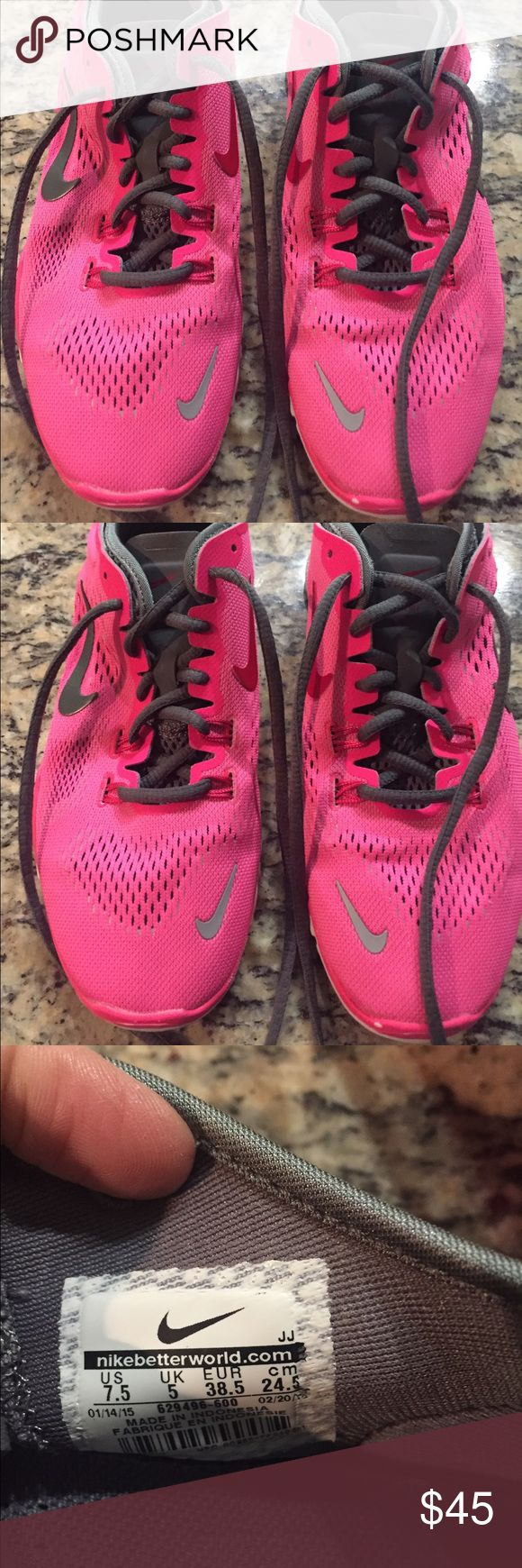 Women's Nike Pink & Gray Athletic Shoes Women's Nike Pink & Gray Athletic Shoes Size 7.5 Nike Shoes Athletic Shoes