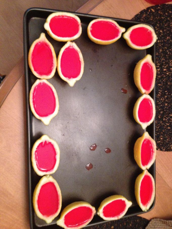 Strawberry Lemonade Jello Shots: Sara Pomykacz's Blog