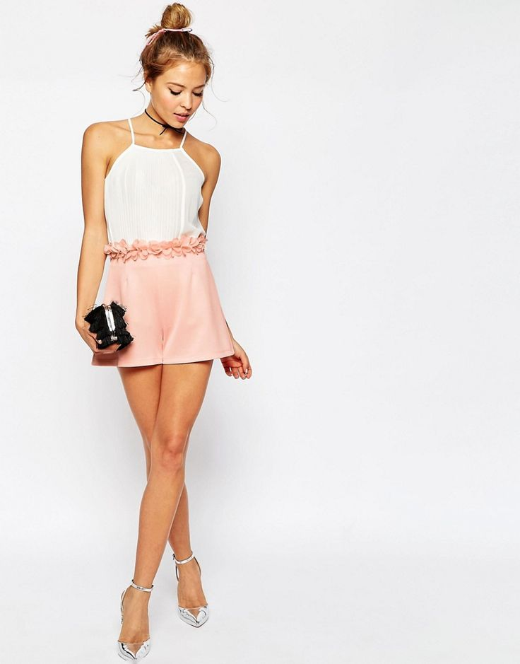 ASOS+Occasion+Shorts+with+3D+Floral+Waistband