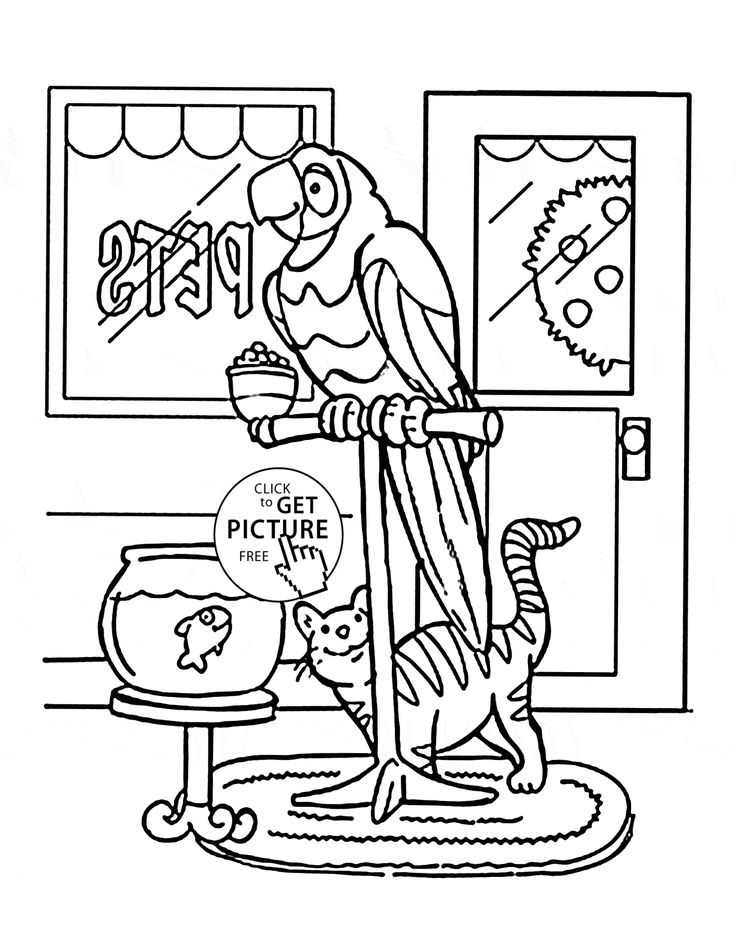 pet coloring pages - photo#28