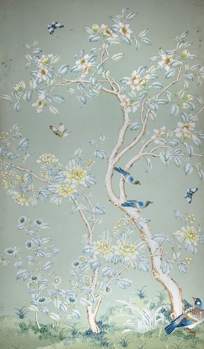 Gracie Wallpaper - Classic Chinese Floral and Botanical Wallpaper