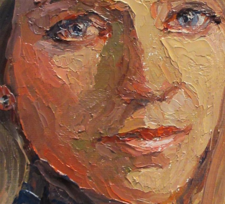 17 best images about portraits on pinterest acrylics for Palette knife painting acrylic