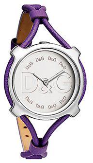 #Reloj de mujer con movimiento de cuarzo analógico. Caja de acero y Correa de piel lila. Esfera blanca.