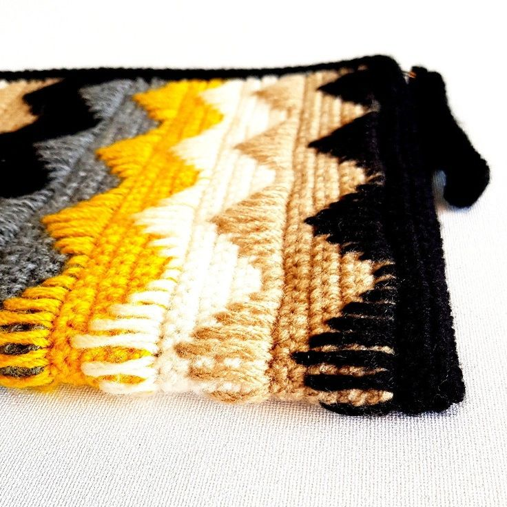 Black and yellow clutch bag. 10% off.