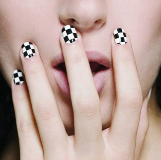 the checkered flag finger nail. Another one my husband would love!