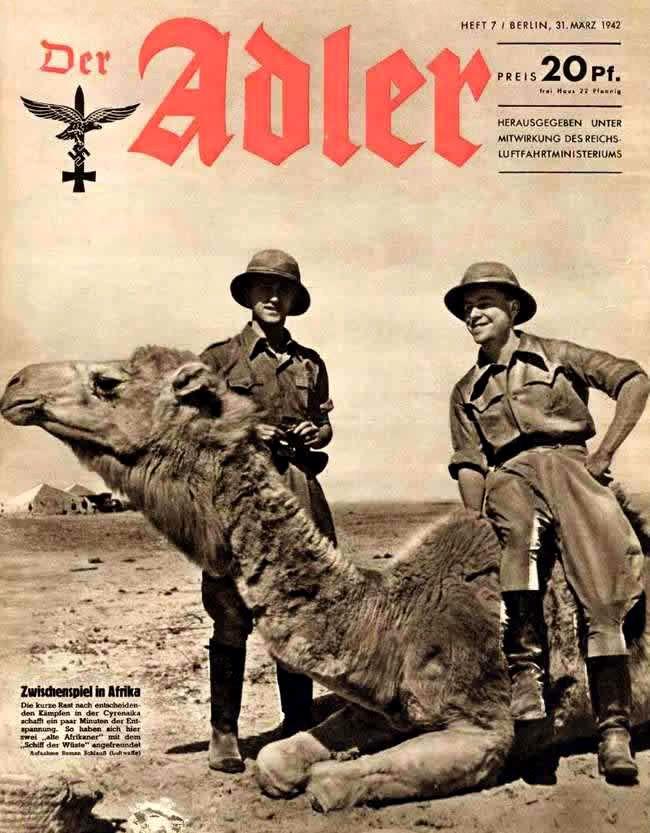Der Adler magazine featuring the Afrika Korps.
