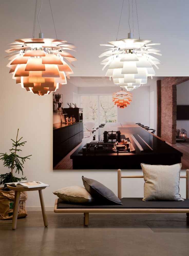 The iconic PH Artichoke fixture displays 72 leaves, positioned precisely to provide totally glare–free light from any angle #LouisPoulsen #modern #design #modernpendant