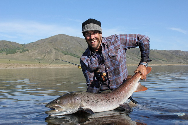 "A true ""taimen freak,"" Charles had landed and released a trophy 42″ taimen in '09 and returned to Mongolia in hopes of catching an even bigger one. On his first day on the upriver beat, he did just that."