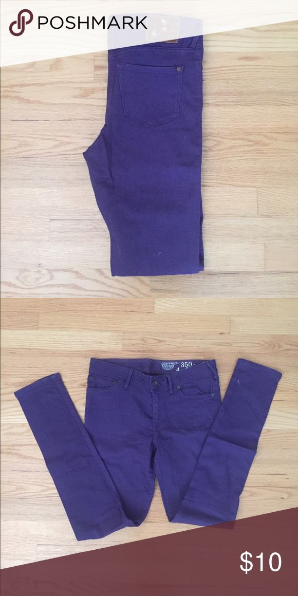 Jack Wills purple jeans Worn only once - Jack Wills purple jeans. Great for fall. Size 27 Jack Wills Jeans Skinny