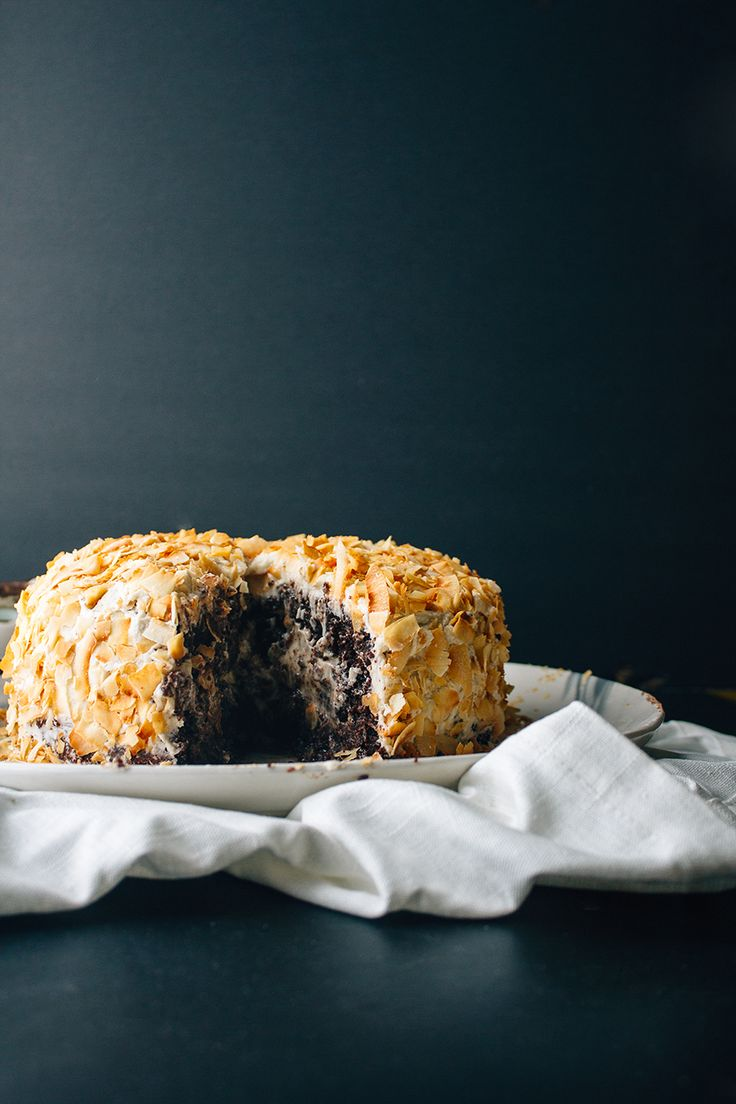 CHOCOLATE & TOASTED COCONUT OLIVE OIL CAKE