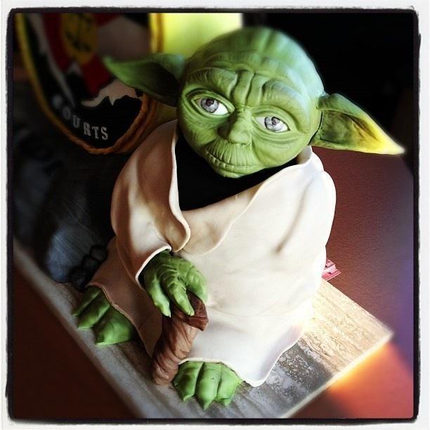 Cake Decorating: Yoda Cake simple awesome !!!
