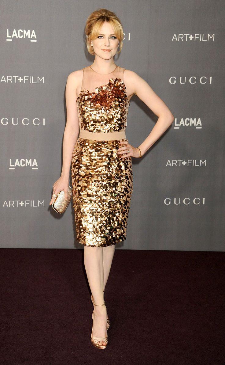 Evan golden dress