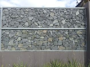 Caged Rock Wall