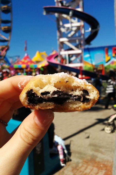 Tantalizing deep fried Oreos at the Florida State Fair. #Oreos #fairfood