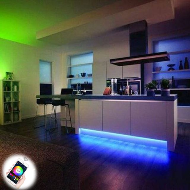 Lights Up Your Entire Dining Room In 2020 Hue Philips Strip Lighting Home Lighting #philips #hue #living #room