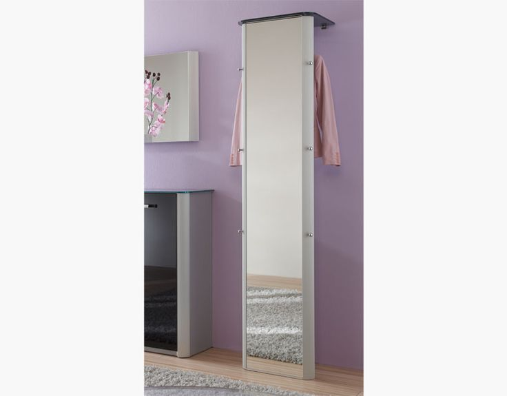 Melodie Contemporary Full Length Mirror and Coat Rack