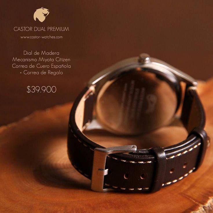 El #reloj Castor Dual Premium mezcla madera metal y cuero haciendo de éste una pieza única e innovadora. Viene con una correa extra de género de regalo y el envío es gratis a todo #chile. Lo adquieres en nuestro sitio web www.castor-watches.com con todos los medios de pago. Puedes también comunicarte al Whatsapp 56994033705 #castorwatches #relojesdemadera #relojes #watch #watches #accesorios #woodenwatches