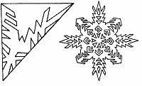 Knutselwerkje genaamd Sneeuwvlokken voor het raam knutselen