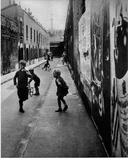 Bill Brandt East End playground, London