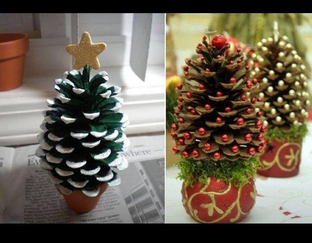 Christmas craft!! Mini trees!